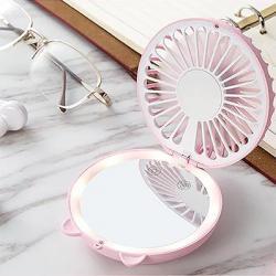 LED Touch Screen Makeup Mirror Fan