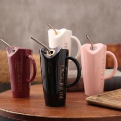 Ceramic Mug with Stainless Steel Straw