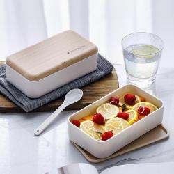 Two Tier Lunch Box with Chopstick & Spoon