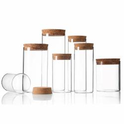 Glass Container with Bamboo Lid